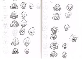 Study: Facial expressions of the Ducks by Francoise-Evelyne