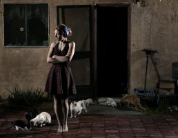 Crazy cat lady by dskphotography