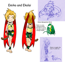 Emiko and Ekolai Reference by Jexyss