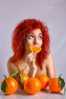 girl with fruit by kozyafffka