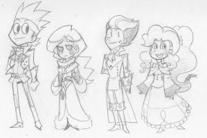 Dapper Heroes (Sketch) 2 by The-Knick