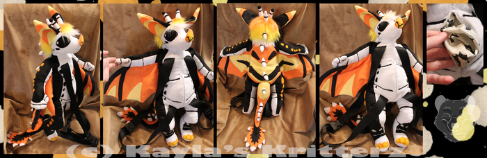 Comm: Samhain Plushie Backpack by BlueWolfCheetah