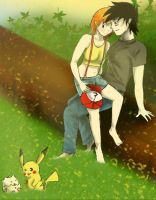 ash and misty by w0lf--61