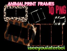 Animal Print Frames by Iseeyoulaterboi