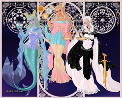 GoddessMaker: Titanesses - Tethys,Theia and Themis by Saphari