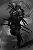 Cyber samurai guy thing by victter-le-fou