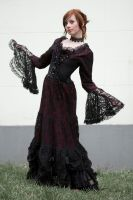 goth dress by szorny-stock