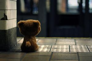 lonely teddy by alice747