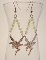 Yellow Crystal Fairy Earrings by TheSortedBead