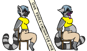 Lemur Stuffing before/after by Sketchy-Genet