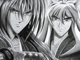 Kenshin, Takeo + Inuyasha by MorgainePendragon