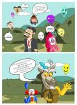 Nostalgia Critic, Pinkie Pie and BALLONS by Neyebur