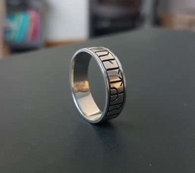 Anglo saxon rune ring by casparh