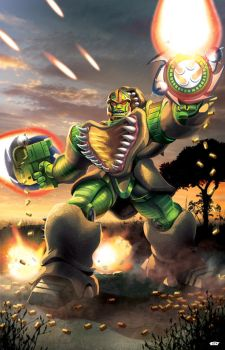Rhinox: Beast Wars Transformers by ZeroMayhem