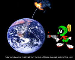 Marvin The Martian's Wish by MrAngryDog