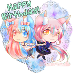 :HBD: Mismatched Kittens by XMireille-chanX