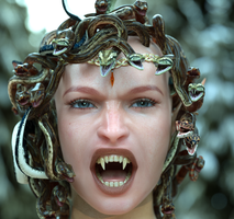 Medusa nothing is worse than the woman's scorn by MaskDemon