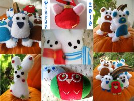 Winter 2010 Plushes by P-isfor-Plushes