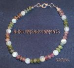 Tourmaline and Moonstone Bracelet by RavingEagleMedia