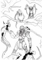 Kainde Nag'ash_vs_necromorphs by bloodypenalper
