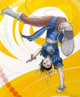 Inverted Chun Li by streetfighterart