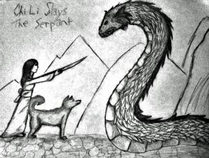 Chi Li Slays the Serpent