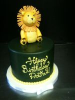 Little Lion Cake by Spudnuts