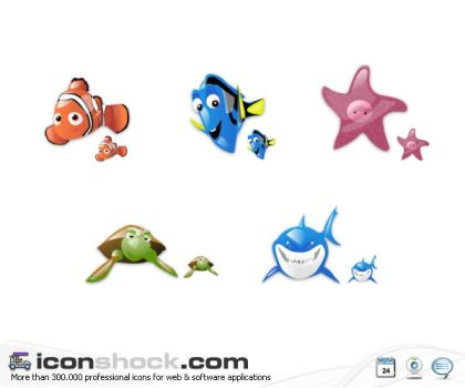 Finding Nemo vista icons by Iconshock