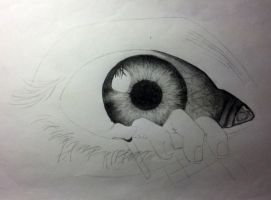 The Eye poster in progress by CrunchMallunch