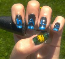 Halo Nails by Aeleis