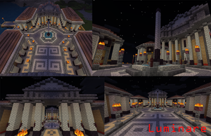 Minecraft- Roman Forum by X-Luminare-X