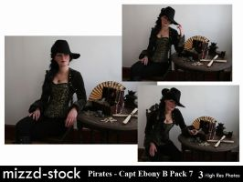 Pirates - Captain Ebony Black Portrait Pack 7 by mizzd-stock