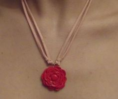 Rose necklace by MeticulousBlue