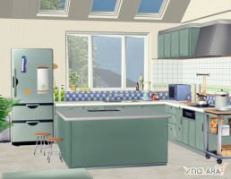 Kitchen scenery by deexie