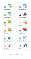 Iconset for Admin panel by Ashung