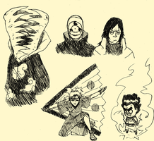 naruto sketch dump by SoDrawnOut