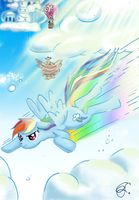 Rainbow Dash ( Crash :P ) ~ colored by Lunell