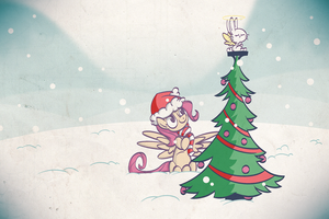 And an Angel Atop a Tree by Foxy-Noxy
