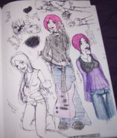 Jinx's entire sketch page by kittahxd