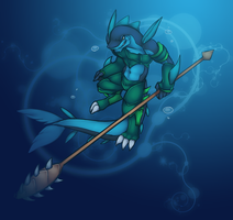 Hunter of the Deep Tide by INCtastic
