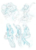 Sketch : Practice girls series by deluzzion