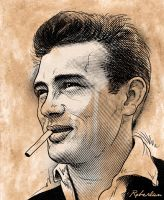 James Dean Sketch by roberlan