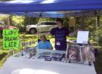Art table for Hunts Mills festival by Lady-RyuuXX87