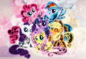 My little pony background~ by xLovelyDeathx