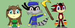 Teadj,Sly Cooper and Rinsu by teadj