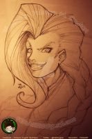 Sketching Jinx Portrait by FEDsART