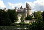 Pierrefonds Castle/Camelot and lake by MorgainePendragon