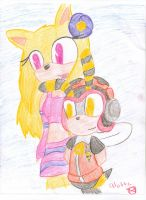 REQUEST~Gold The Hedgie And Charmy~ by Alottastuff12