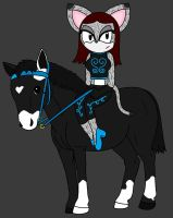 Sarah riding on a horse by Sweetgirl333