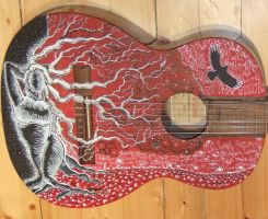 'love for life' guitar by Cherybone